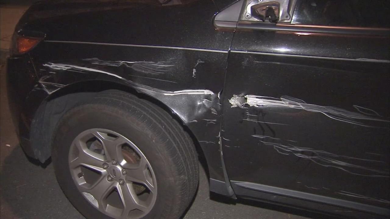 Cars damaged in South Philadelphia