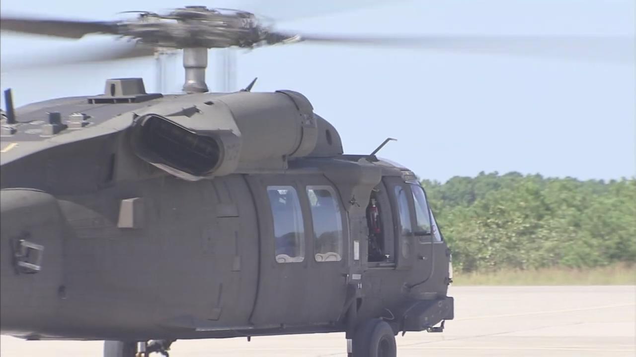Blackhawk helicopters depart NJ for Texas flood zone