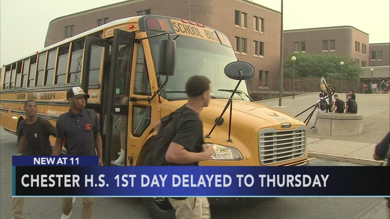 Chester H.S. 1st day of school delayed