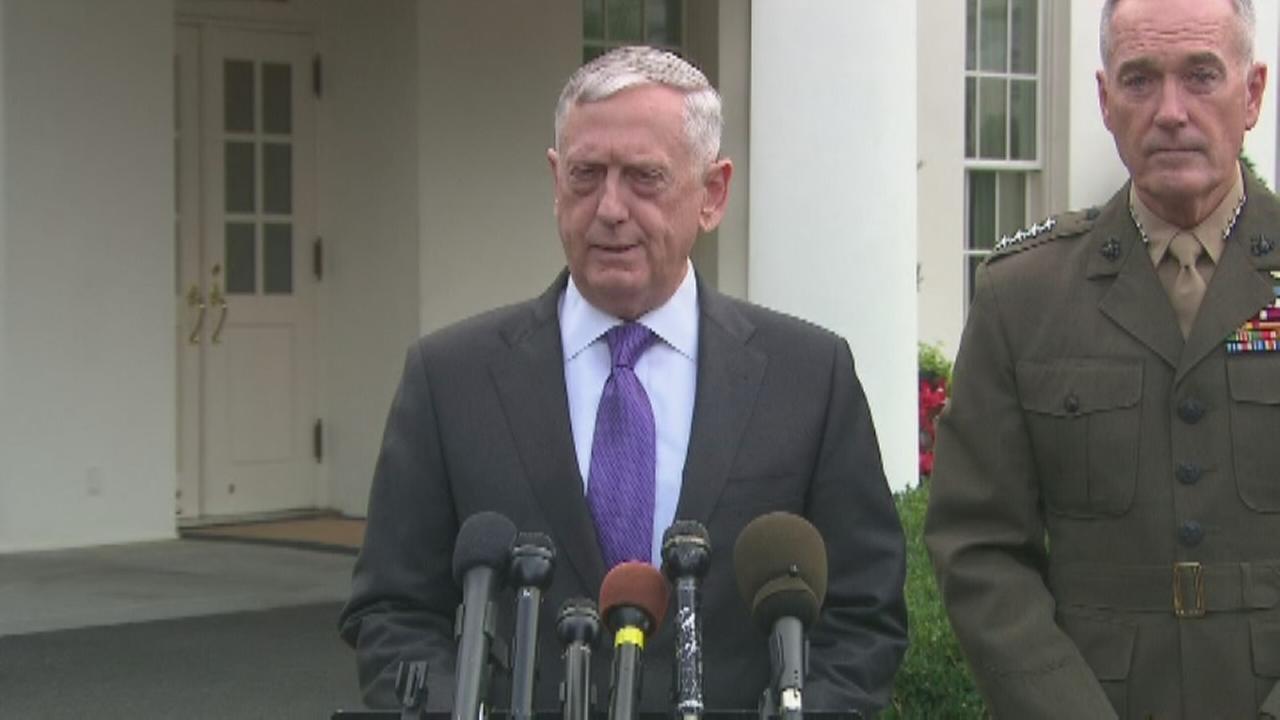 Mattis: NKorea threat would bring massive military response