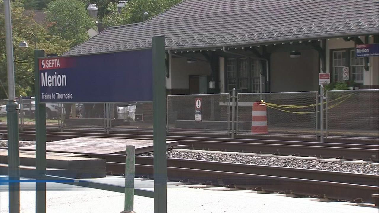 Teen struck by train at Merion Station