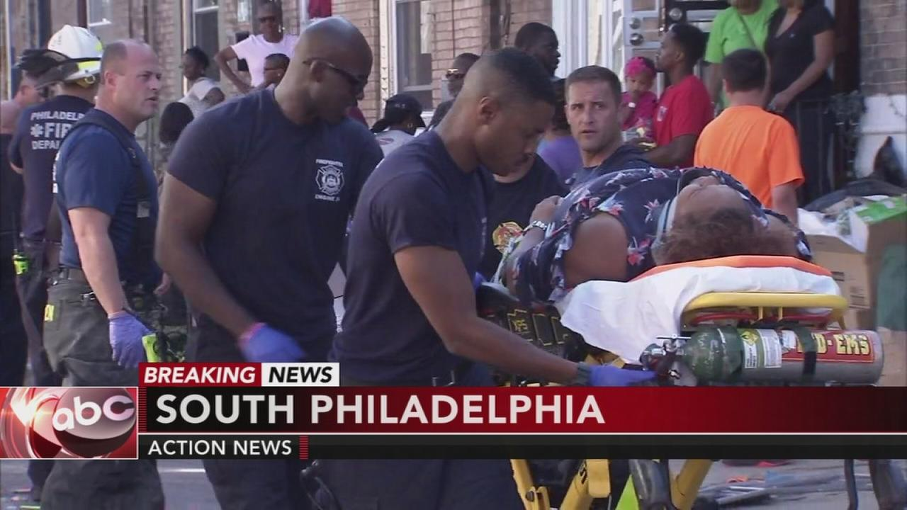 8 pedestrians struck by car during block party in South Philly