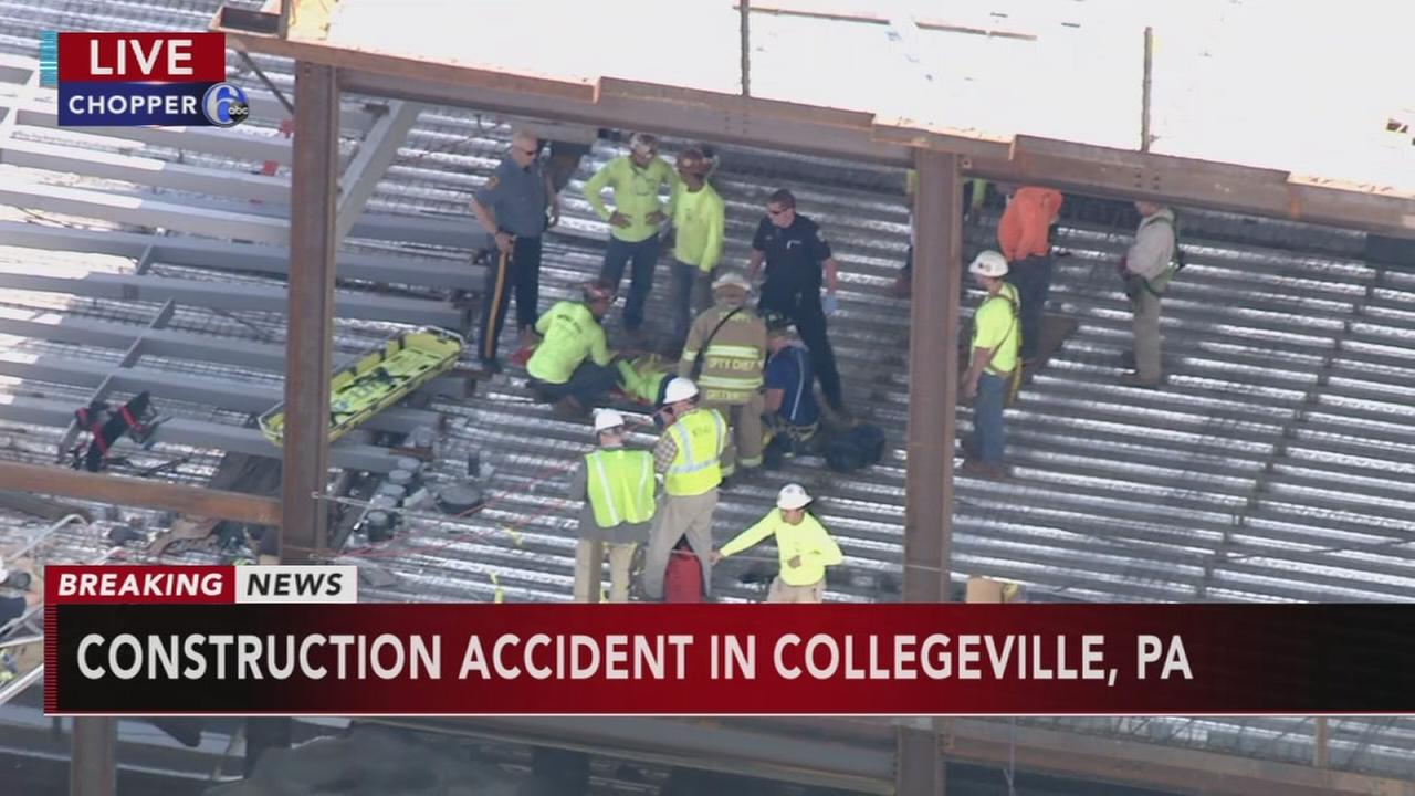 Construction accident in Collegeville, Pa.