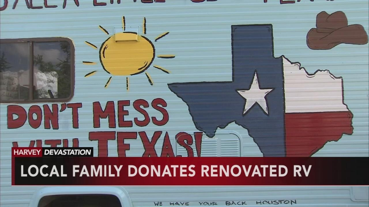 VIDEO: Local family donates RV to texas relief
