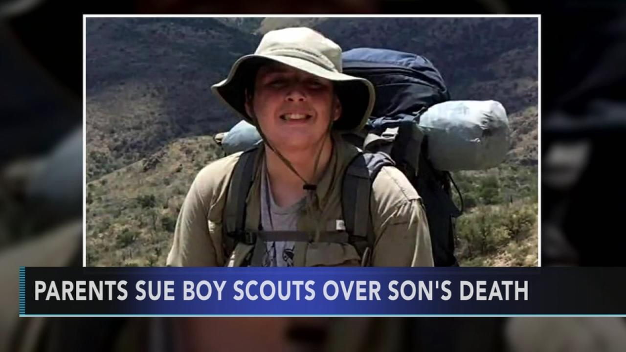 Parents sue Boy Scouts over sons death