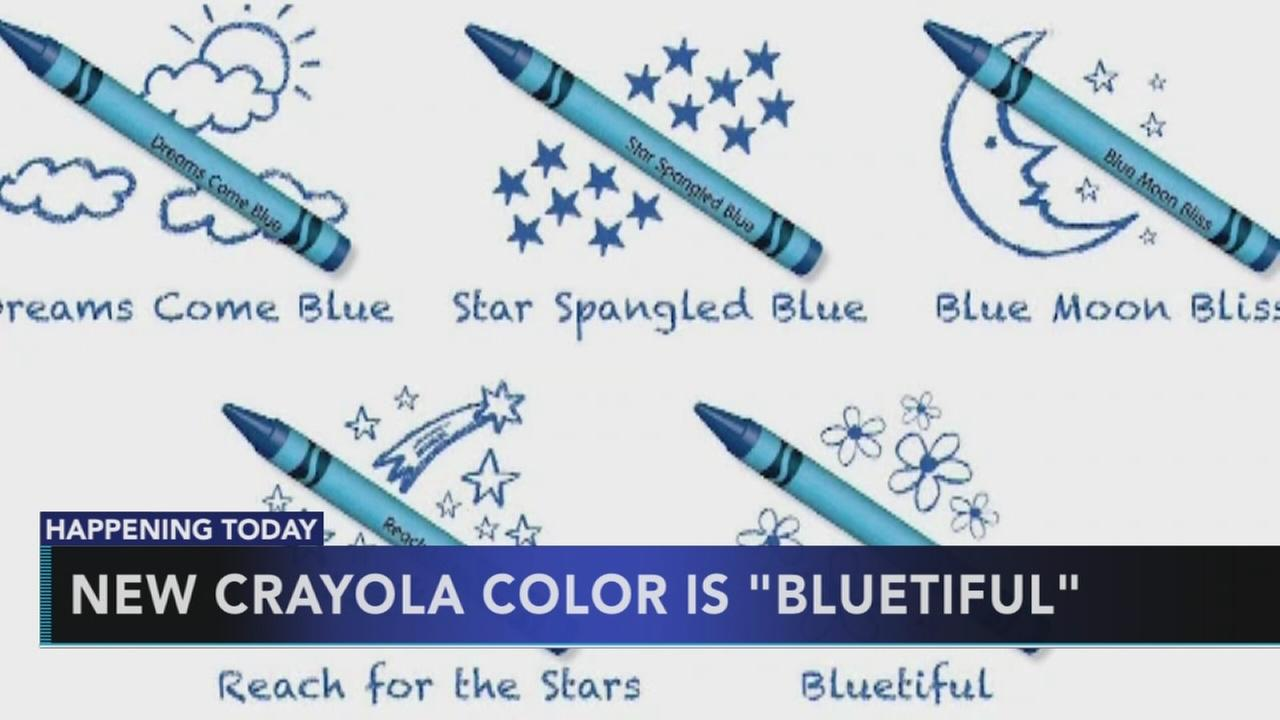 Crayola unveils new crayon name: Bluetiful