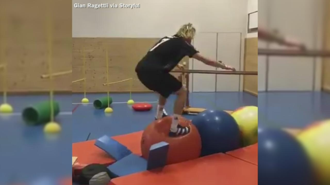 VIDEO: Swiss skier prepares for Winter Olympics with intense training