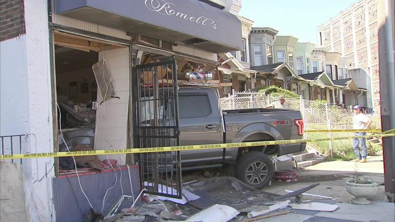 Pickup crashes into Tioga-Nicetown barber shop