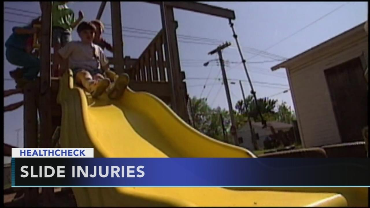 Doctors warn again parents sliding with toddlers on lap