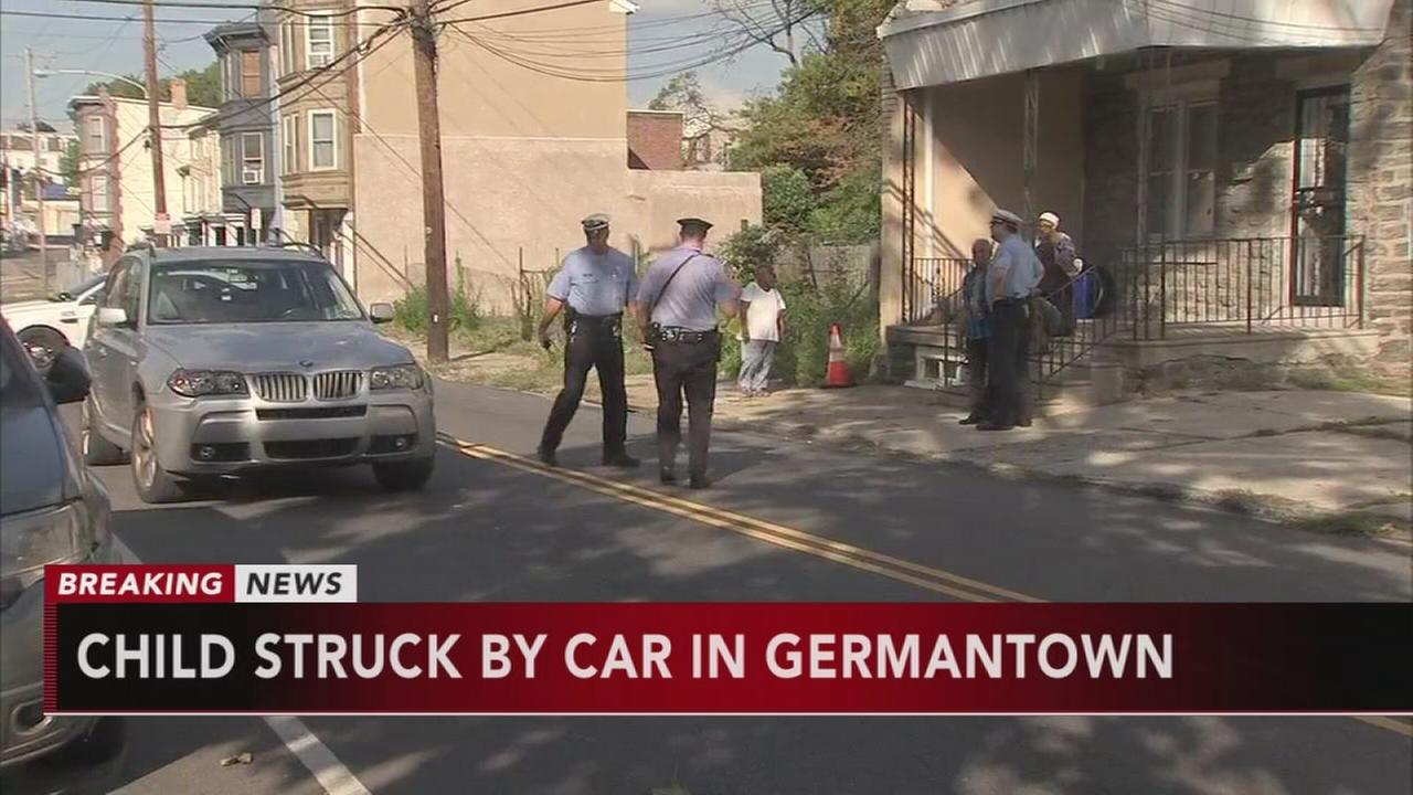 Girl, 10, hit by car in Germantown