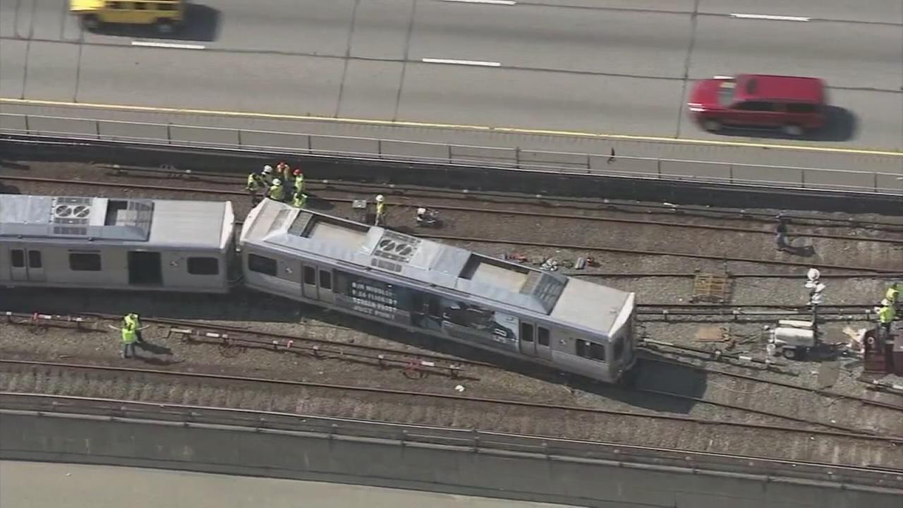 SEPTA train derails along Market-Frankford Line