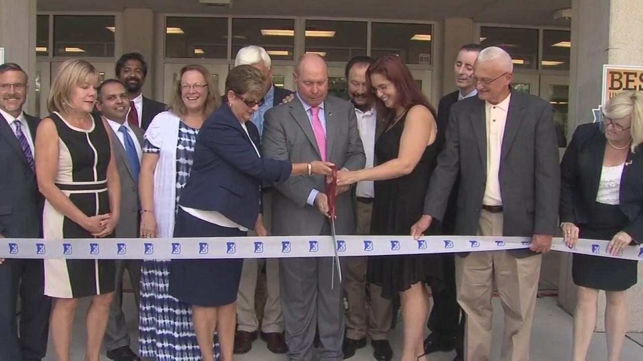 School re-dedication ceremony in Bucks County