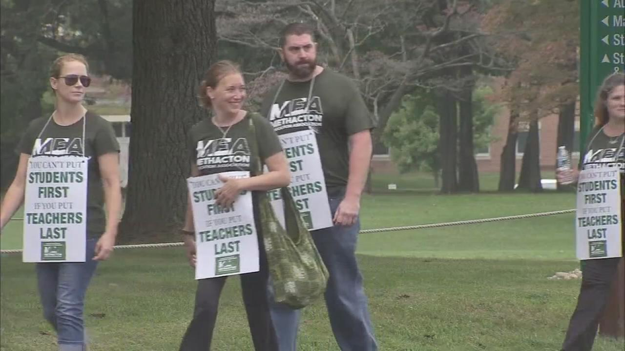 Methacton School District teachers on strike
