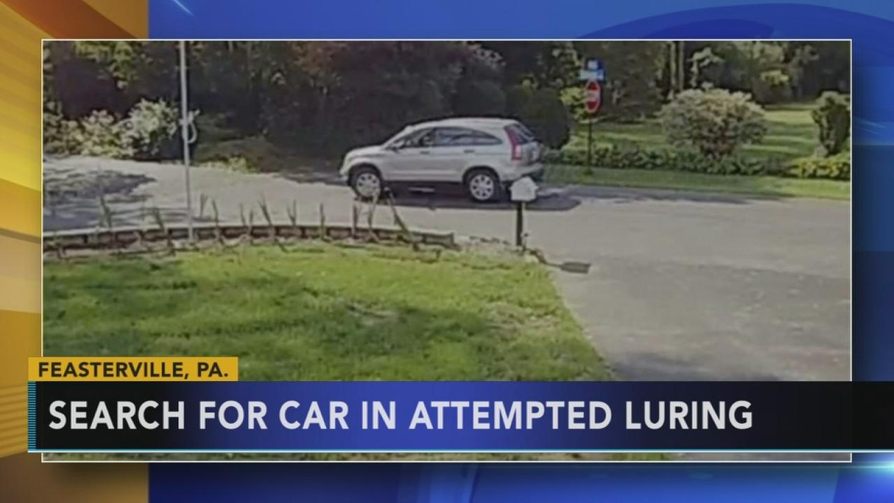 Search for car in attempted luring