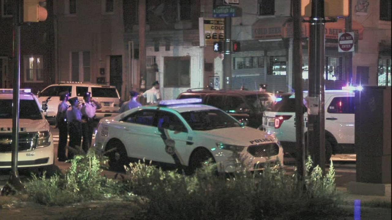 Police cruiser and vehicle collide in North Philadelphia
