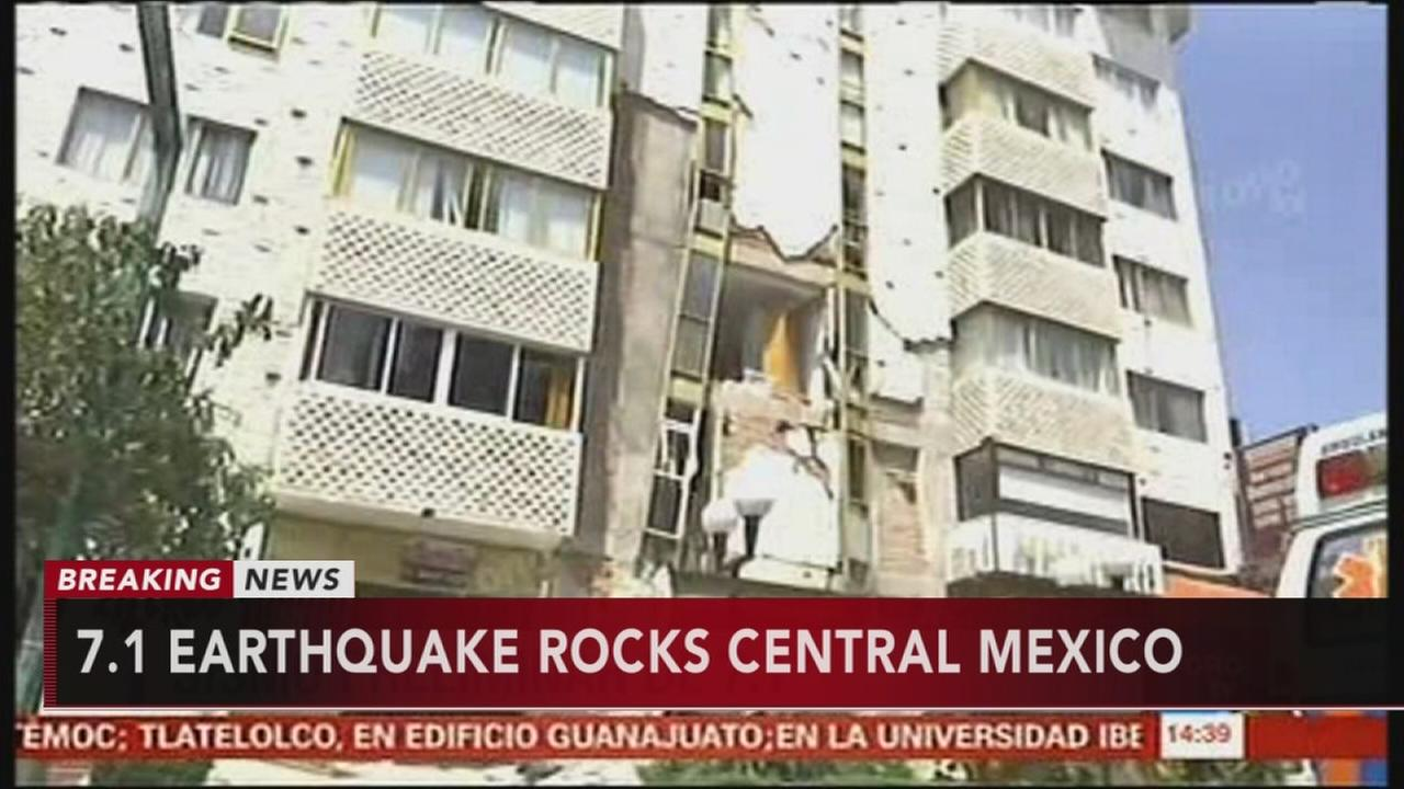 7.1 earthquake rocks Central Mexico