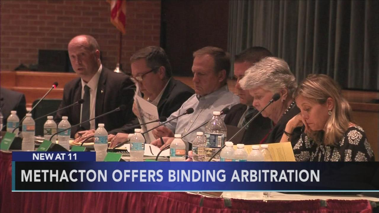 Methacton offers binding arbitration