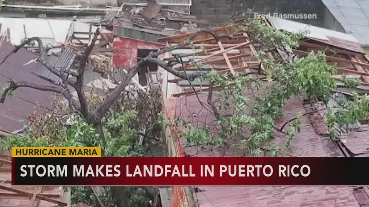 Maria makes landfall in Puerto Rico