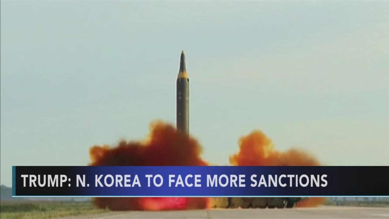 Trump vows more sanctions over North Koreas nuclear buildup