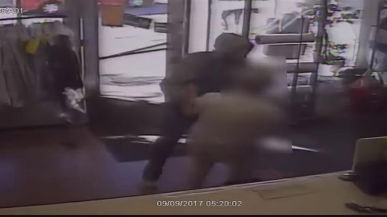 Suspect sought for armed robbery at cleaning store in NE Philly