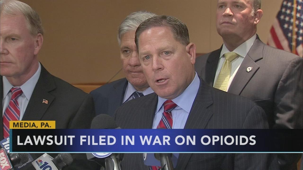 Delaware Co. sues drug companies amid opioid crisis