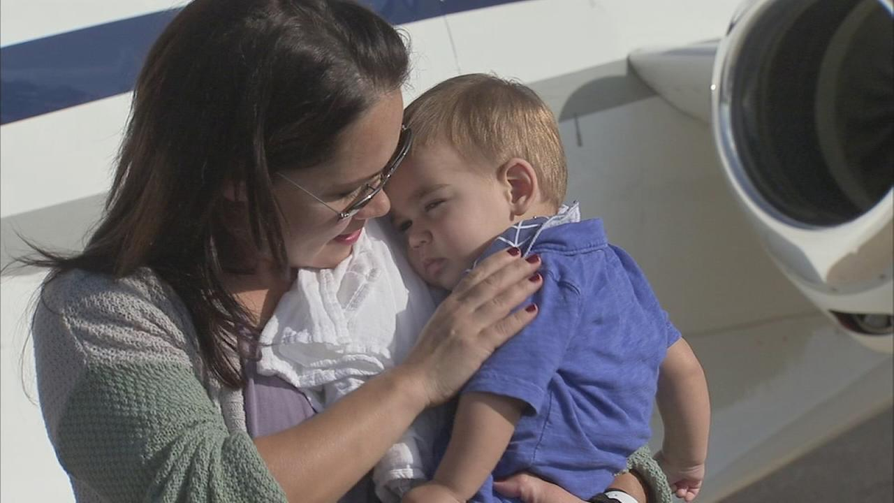 Family receives free plane ride to Philly to help sick son
