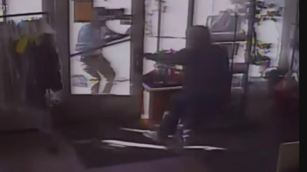 CAUGHT ON CAMERA: Knife-wielding robber attacks store owner: Trish Hartman reports on Action news at 11 p.m., September 21, 2017