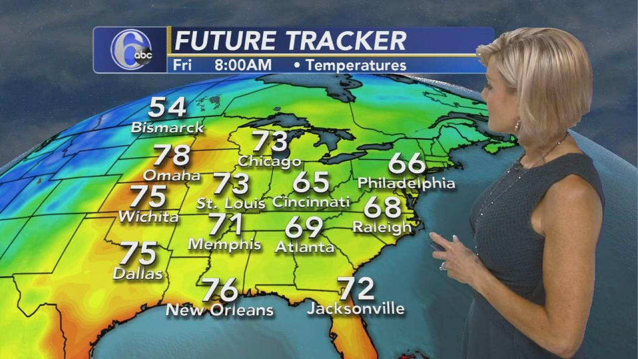Cecily Tynan with AccuWeather during Action news at 11 p.m., September 21, 2017