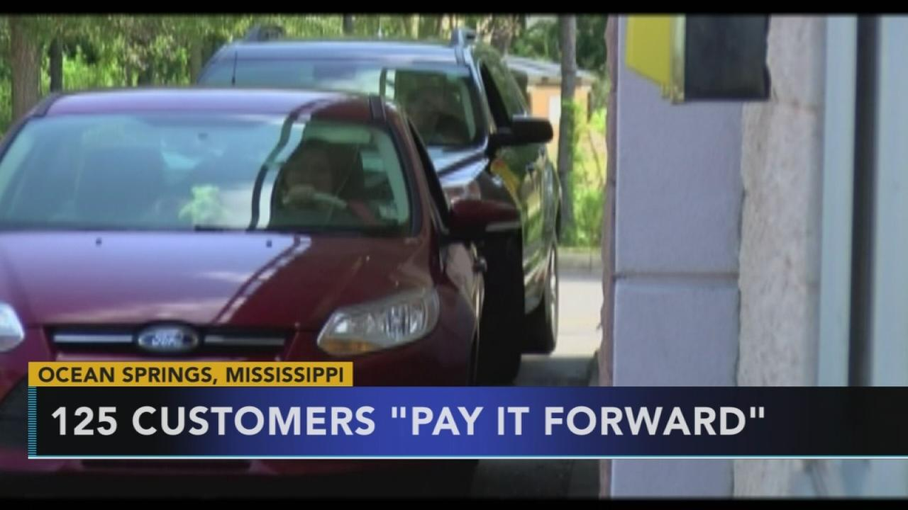 125 customers pay it forward