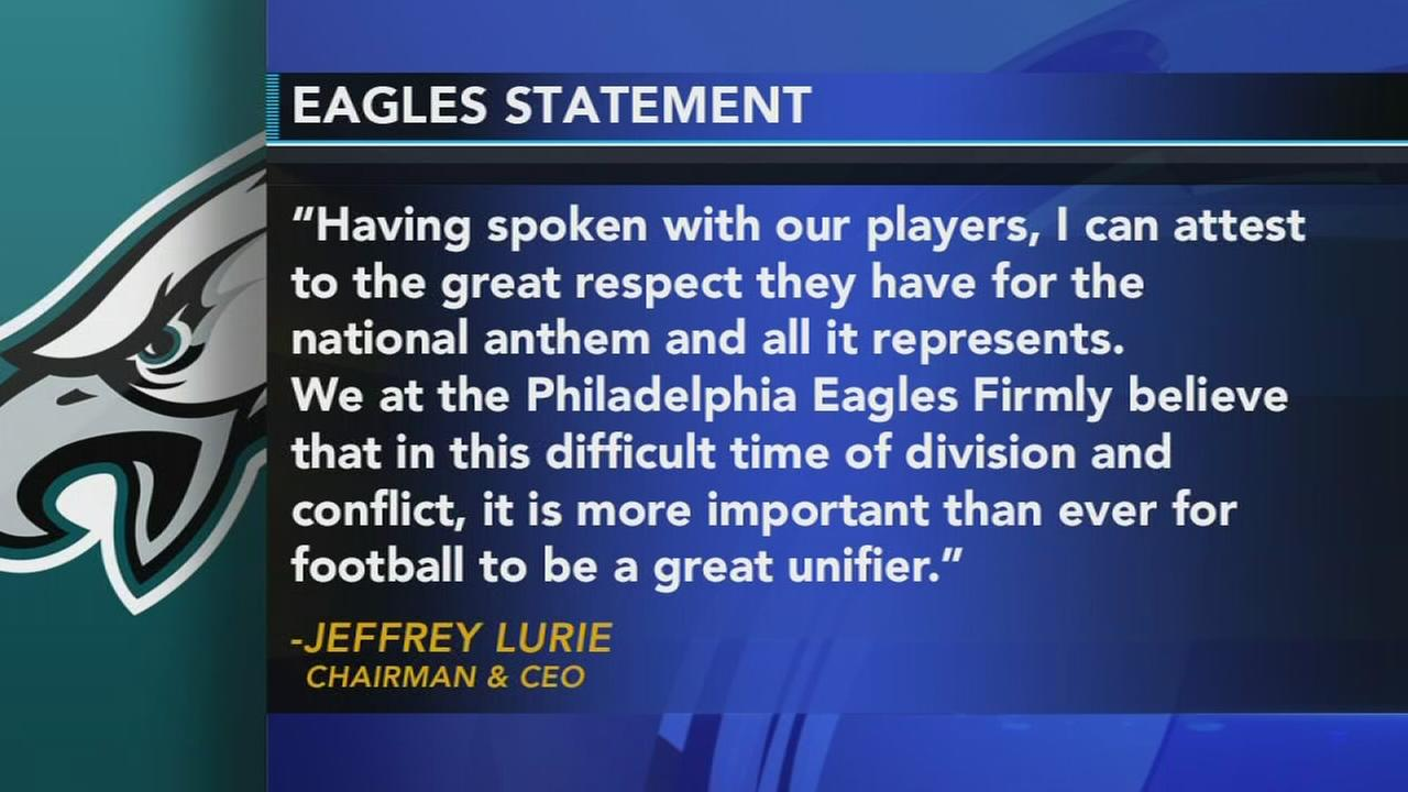 Jeffrey Lurie releases statement