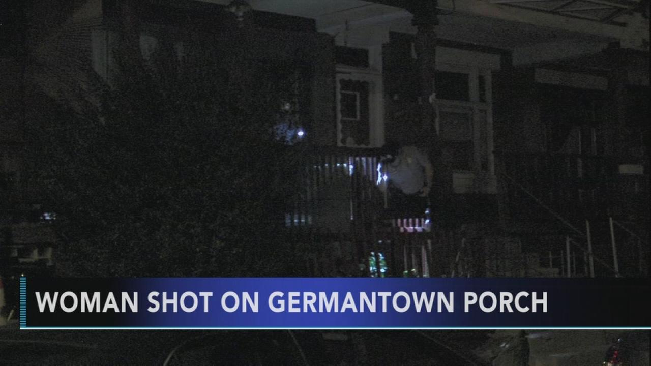 Woman shot on porch in Germantown