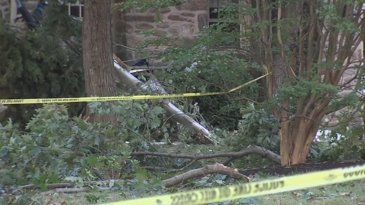 Small plane crashes into home in Whitpain Twp.: Trish Hartman reports on Action News at 11 p.m., September 24, 2017