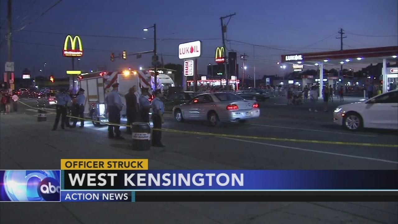 Officer struck in West Kensington