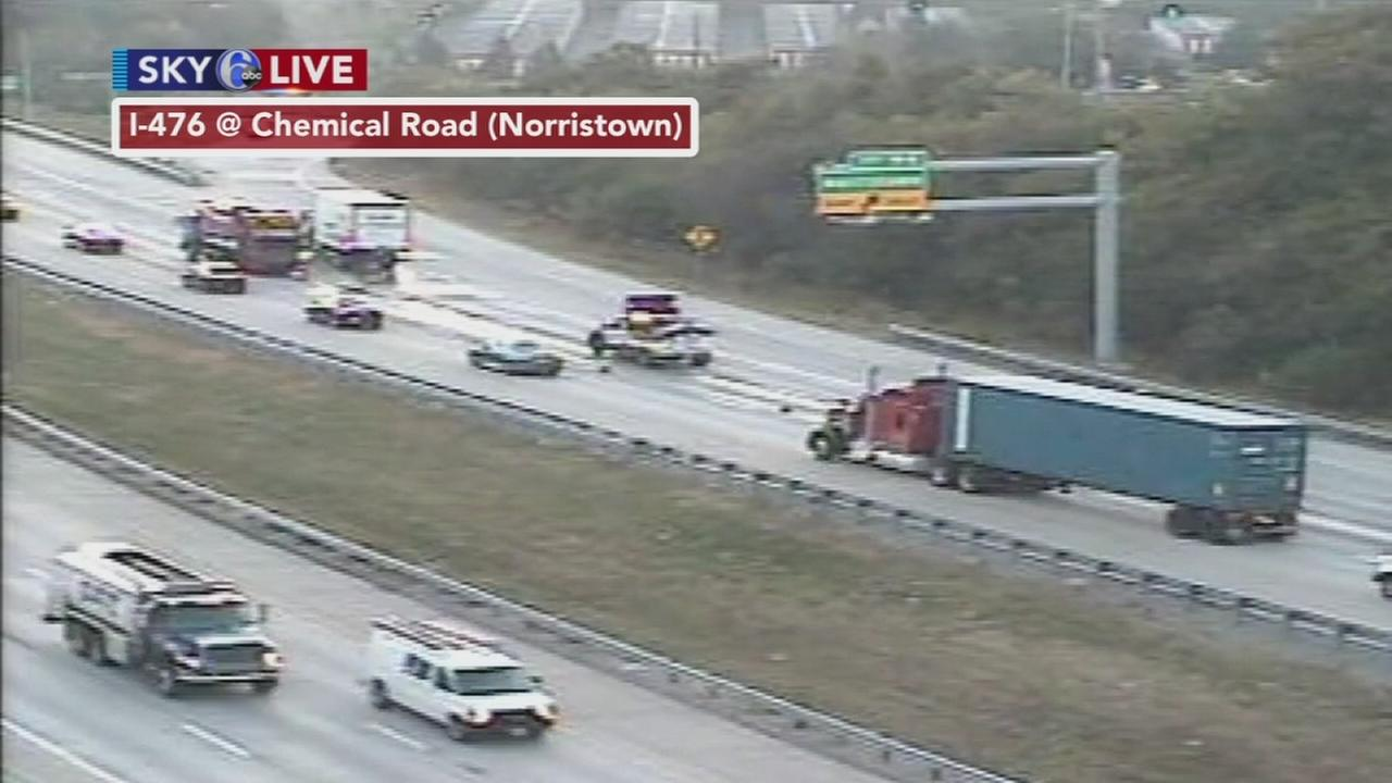 Crash on NB I-476