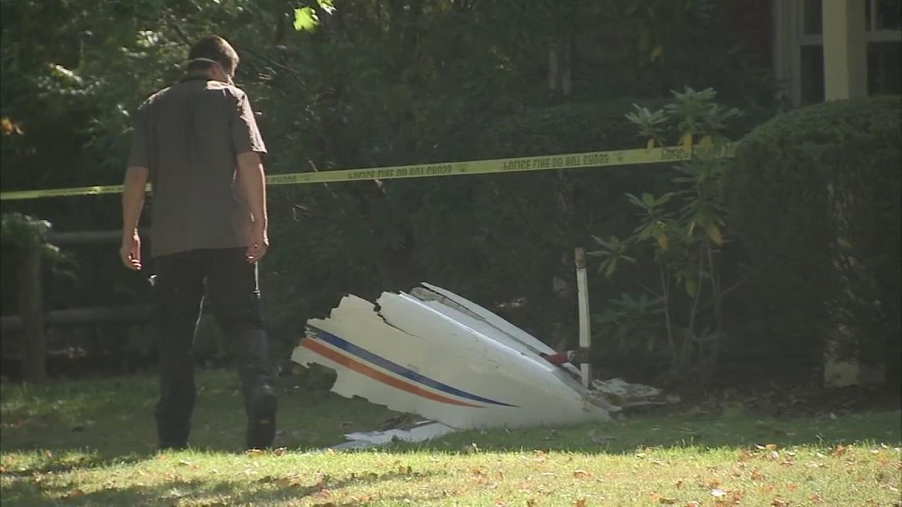 NTSB on scene of small plane crash in Whitpain Twp.