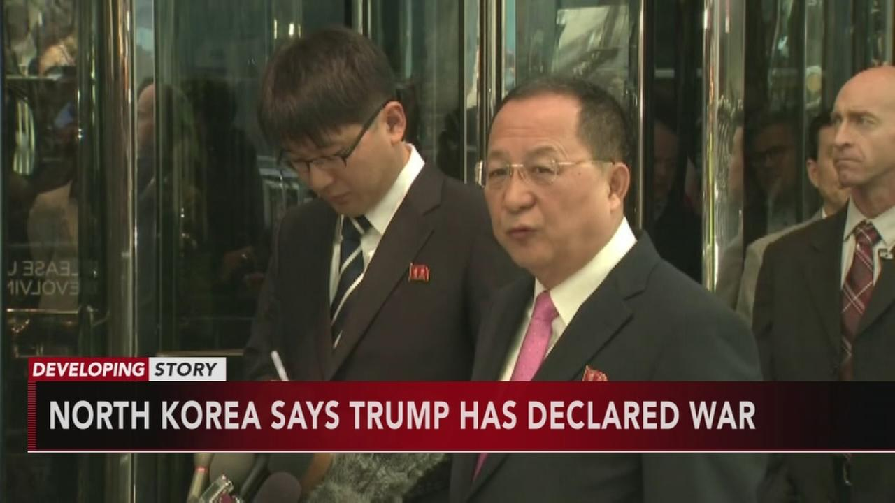 North Korea: Trumps latest statement a declaration of war