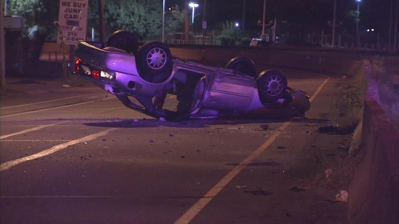 Rollover crash in SW Philadelphia