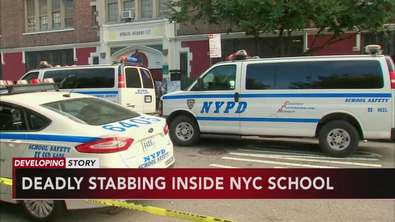 15-year-old dead in double stabbing at Bronx school