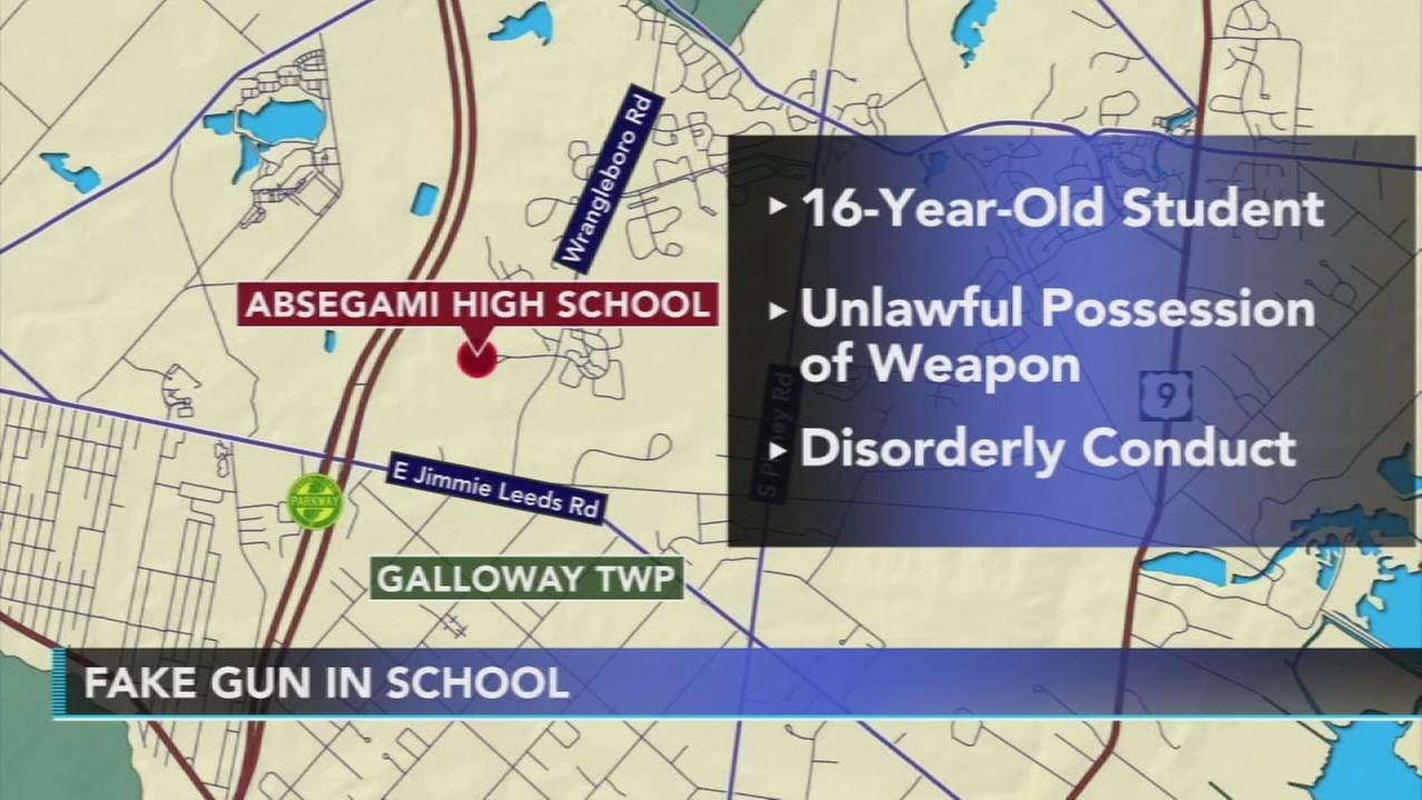 Fake gun found in students book bag in Atlantic County