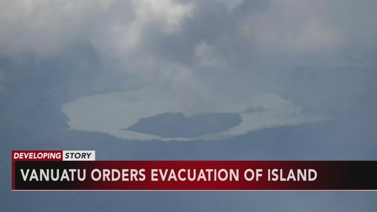 Vanuatu orders evacuation of island with rumbling volcano