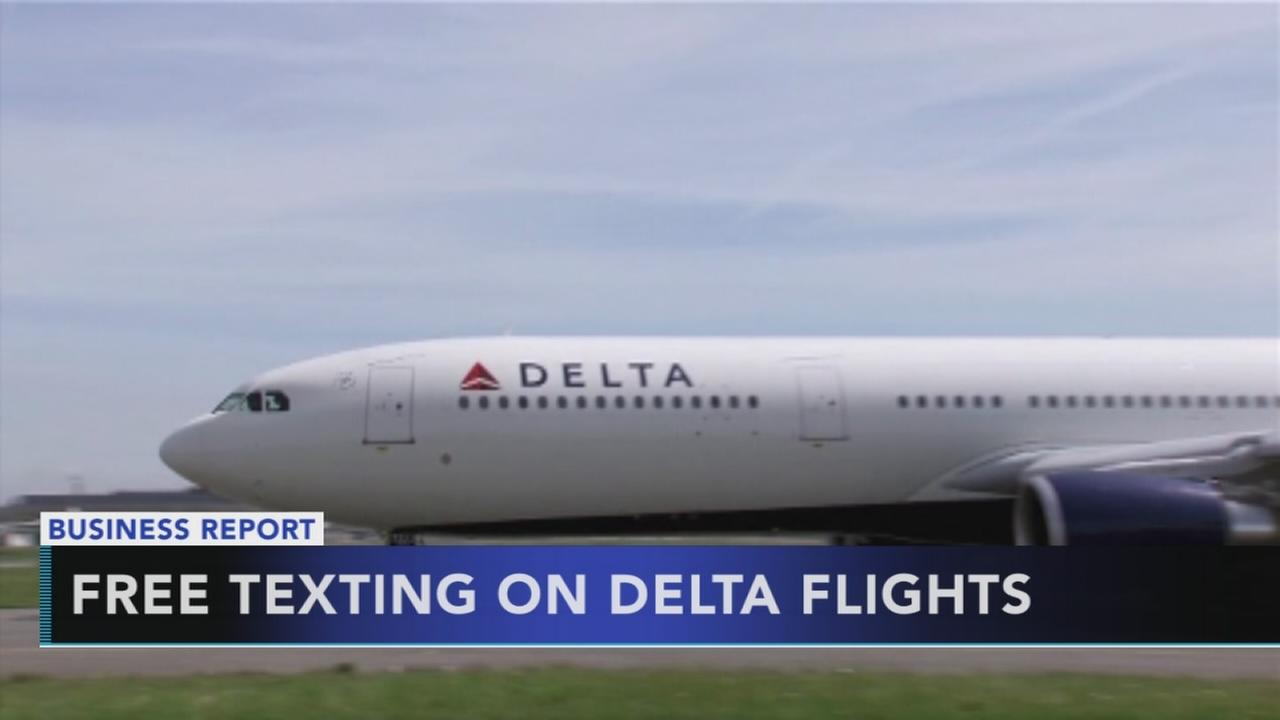 Free texting on Delta flights