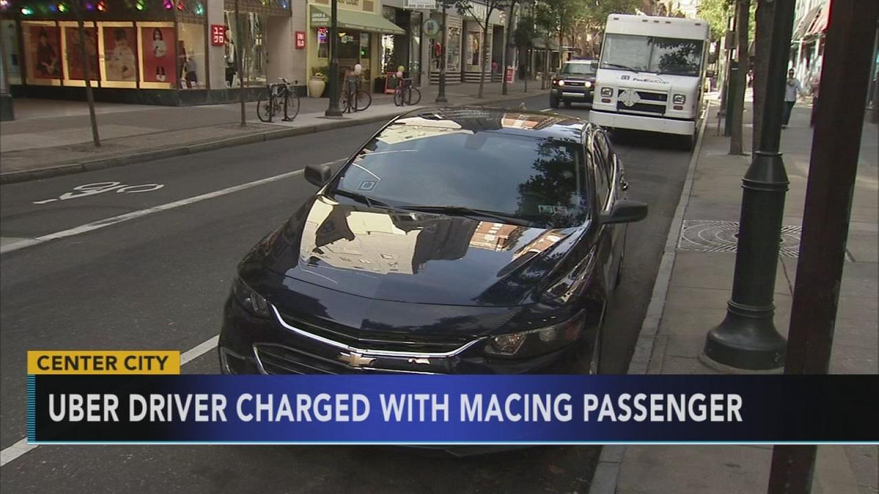 Uber driver allegedly sprays passenger with mace