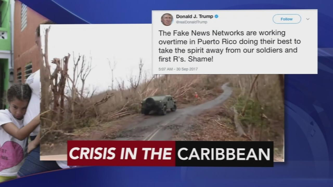 The crisis in Puerto Rico continues following Hurricane Maria: Walter Perez reports on Action News at 11 p.m., September 30, 2017