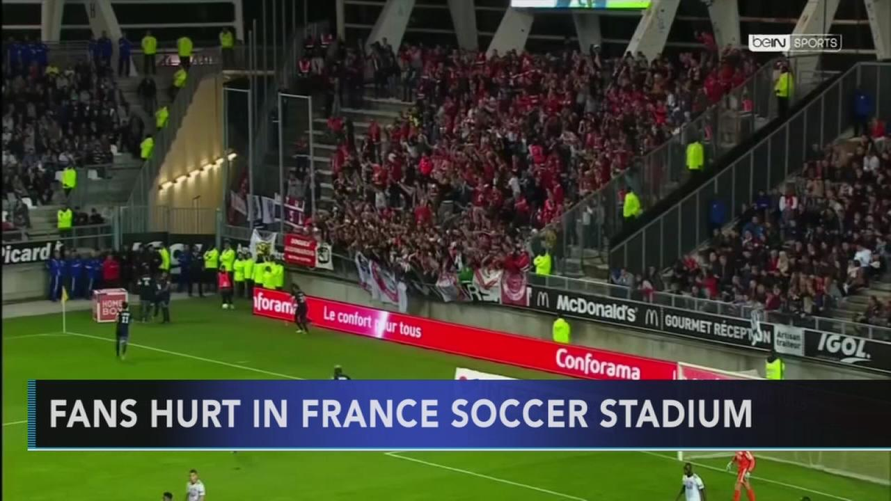 Fans hurt in France soccer stadium