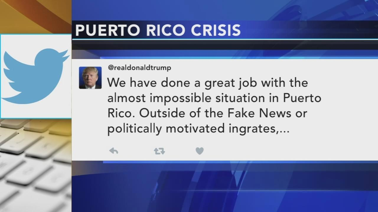 Strong words from Trump, San Juan mayor over recovery pace