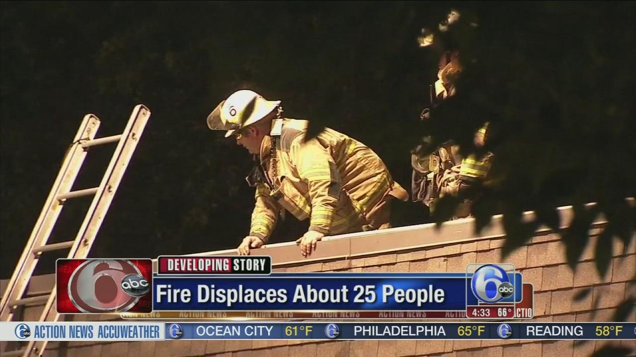 VIDEO: Flames force residents from apartment in Montco.