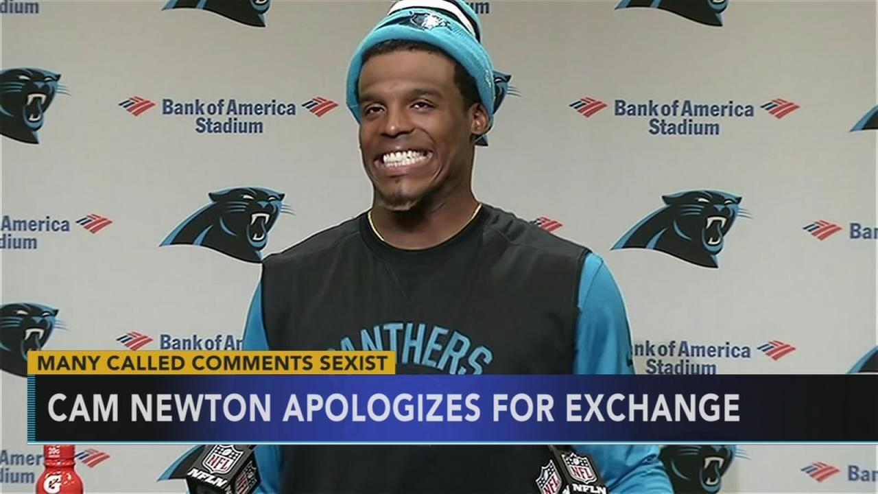 Cam Newton apologizes for remark made to female reporter: Monica Malpass reports on Action News at 11 p.m., October 5, 2017