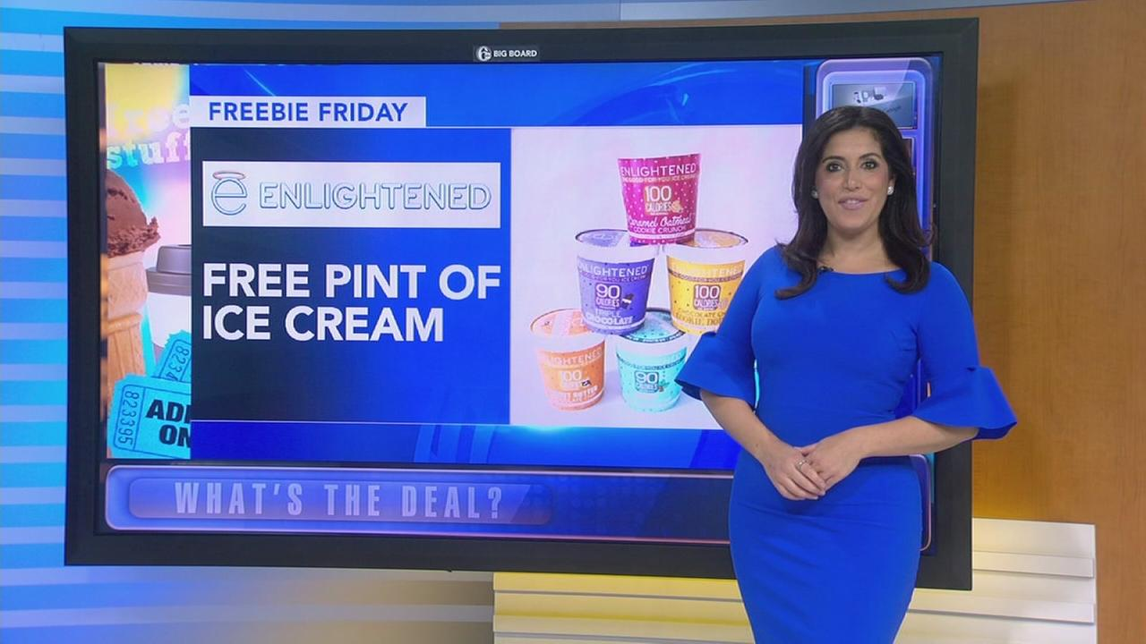 Freebie Friday: Ice cream, wine, olive oil