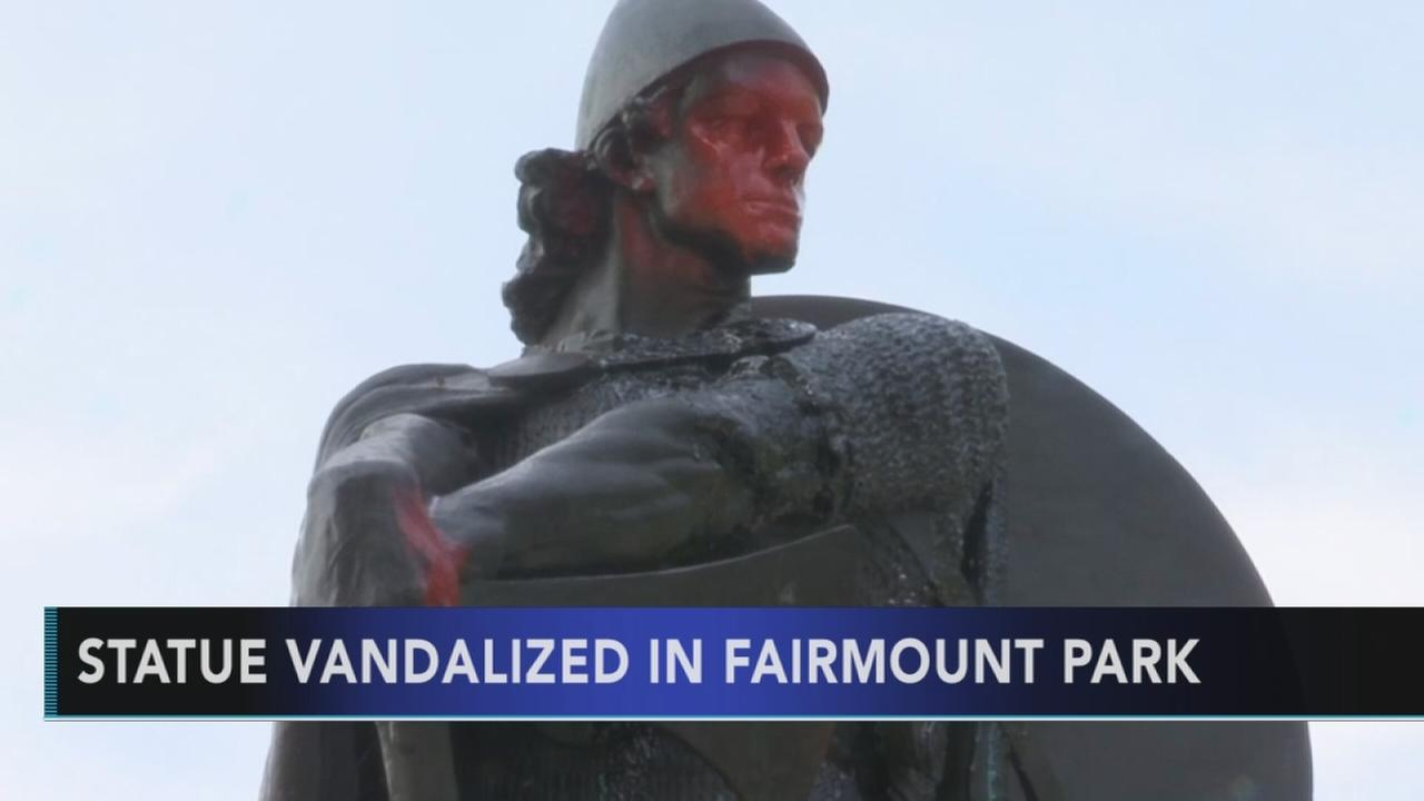 Statue vandalized in Fairmount Park