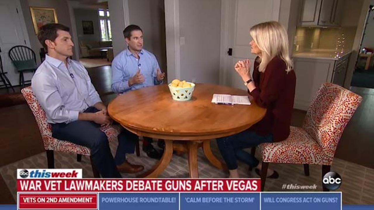 WATCH: 2 Iraq War vets, now Congressmen, have bipartisan discussion on gun control